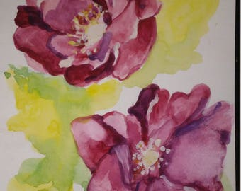 Watercolor Painting; 1Soft Pink Petals