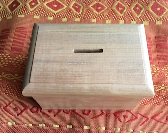 Solid wood secret Money Bank