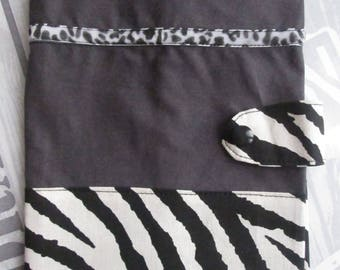 """Notebook/diary cover """"Zebra"""" ready to customize"""