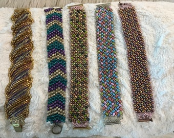Beaded Bracelets made by Jeanne, sold individually