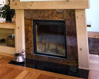 Wood fireplace mantel shelf mantle surround rustic primitive fireplace mantel surround