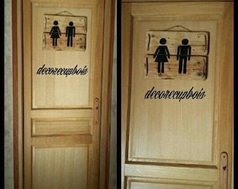 door wc / bathroom pallet wood