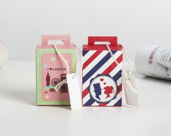50pcs,100pcs  Luggage Candy Box - Treat Boxes - Birthday Boxes -Party Boxes -Birthday Party -Gift Box -Favor Boxes -Wedding Favor