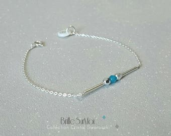 BrilleSurMoi swarovski crystal beads 925 silver bracelet