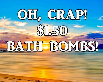 1.50 Bath Bombs | Discounted Slightly Imperfect | Clearance Deal | Large 2.6 Inch