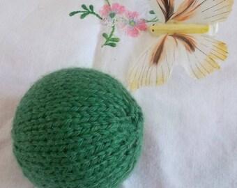 Dark green cat ball