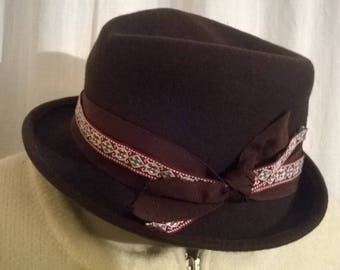 Brown felt hats