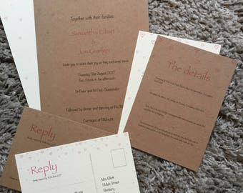 Hearts Wedding Invitation set