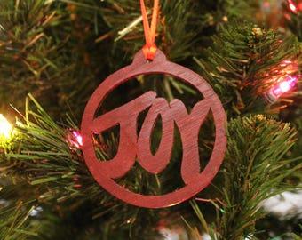 Ornament - Joy - Padauk