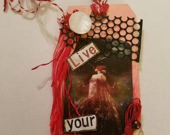 Altered Art Card- Mixed Media Tag