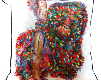 Monkey Indoor/Outdoor Cushion Cover