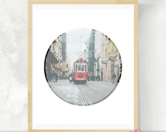 Cable Car Print | Wall Art | Digital Download | Gift for Traveler | Instant Art Print | Photography Print