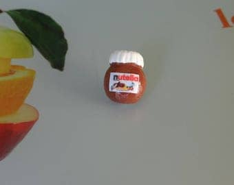 jar of nutella made of polymer clay by me