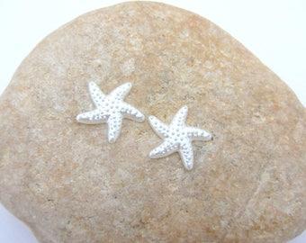 1 Pearl Starfish half craft, in white resin