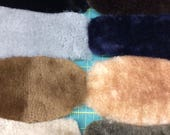 Sven Shearling Scrap-Black, Brown, Gray, Blue, Gold, Natural, Taupe, Autumn Green- One Pound Scrap