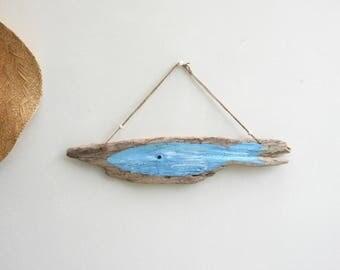 Driftwood wall decor * blue whale