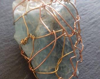 wire wrapped AQUAMARINE pendant