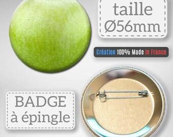 Badge Fruit Apple Apple idea gift 56 mm