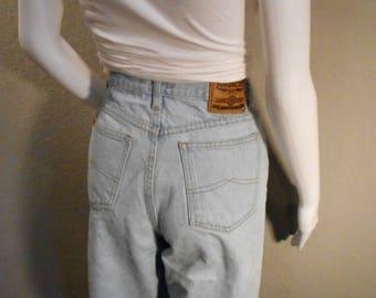 Vintage Jordache Jeans/waist 26/ 90's mom jeans cut off bottom light wash