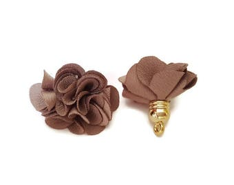 Brown ice fabric tassel