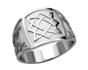 Svarog Square Lada Lado Symbol Ethnic Men Ring Sterling Silver 925 SKU30128