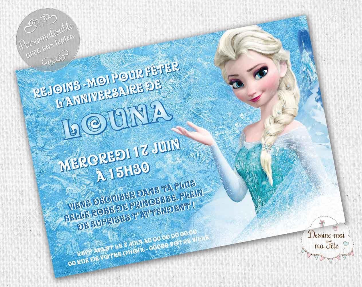 Très Invitation Anniversaire personnalisable Reine des NL28