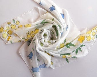 "Hand painted silk scarf ""Spring Awakening"" by Gabren; beautiful handmade gift for woman; 84x84cm (33x33in)"