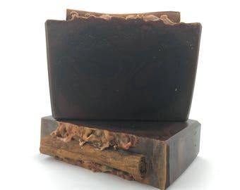 Chocolate CinnaBear Handmade Soap - Cold Process Soap, Bar Soap, Handcrafted Soap, Artisan Soap, Silk Soap