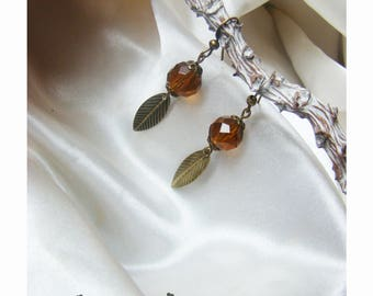 Brown chic earring
