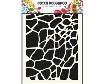 Stenciled Dutch Doobadoo Mask giraffe - A5 New Stencil Art