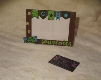 """Starry memories"" picture frame scrapbooking"