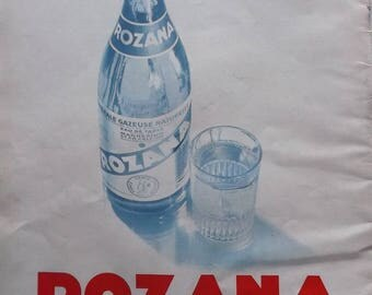 advertising old vintage ROZANA water sparkling REF. 36574