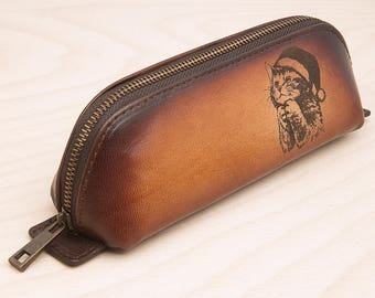 Genuine leather its case you can by for your daughter or wife its a nice gift