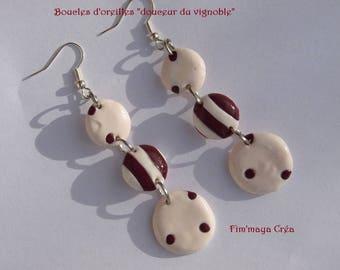 """Earrings ' """"sweetness of the vineyard"""""""