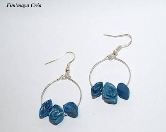 """""""Roses in the Butterfly"""" earrings blue"""