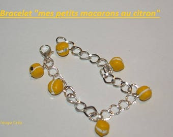 "Bracelet sweet berries and girly ""My lemon macaroons"""