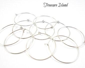 10 small hoop earrings silver, silver hoop earrings