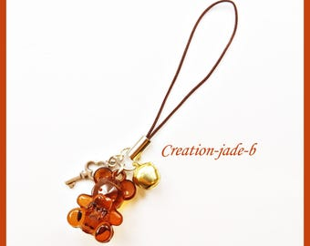 Jewelry for Portable Teddy bear Brown - phone Strap