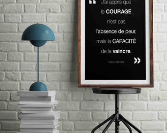 Inspirational N Mandela A4 size: 21 x 29.7 cm