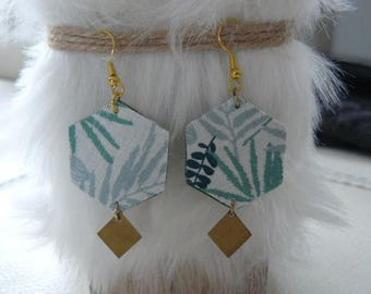"""Jungle leaves"" earrings"