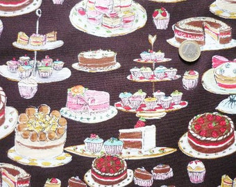 Fabric American Tea party (Mr. Miller) cake - cupcake and cake