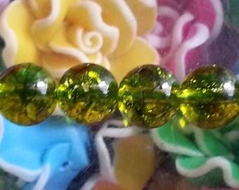 5 beads of quartz olivine 8 mm in diameter, hole 1 mm