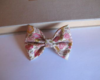 "hair bow ""clip - me"" pink liberty"