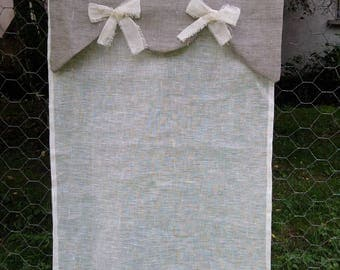 To order - sheer with ties linen Bunting and valance