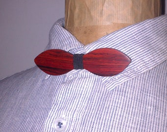Bow tie made of Cocobolo wood