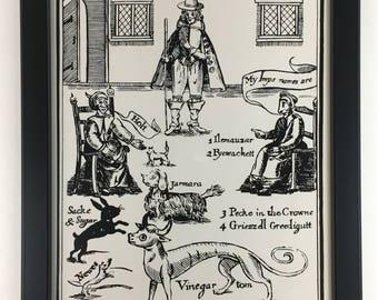 Witchfinder General Matthew Hopkins Framed Art  Pulp Sci-Fi Horror Fantasy Medieval