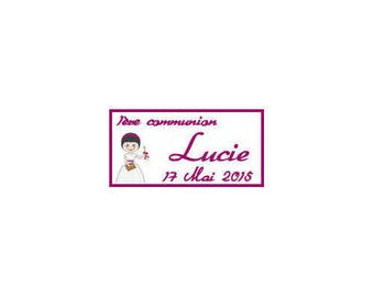 Candy Girl Catholic communion tags