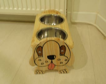 support animals wood stainless steel Bowl
