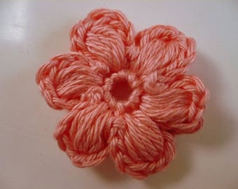 Flower crochet applique flower, swollen, puff flower