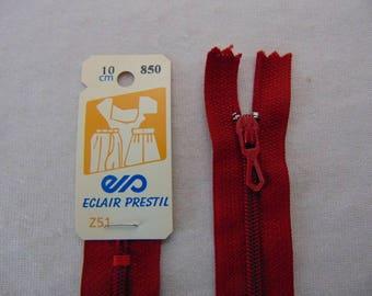 Red nylon zipper, 12 cm (Z51 850)